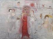 調布の美術館で油絵画家・織田廣喜さんをしのぶ展覧会