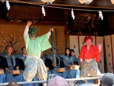 調布市内の寺社で「節分祭」 深大寺に八代亜紀さんやリオ柔道金の田知本さん、布多天神社では甘酒の振る舞いも
