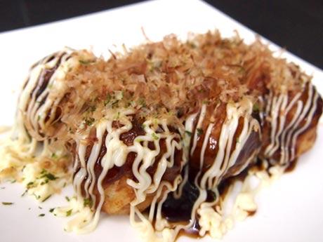 「あずまや 調布南口店」ソースマヨの「たこ焼き」(390円)