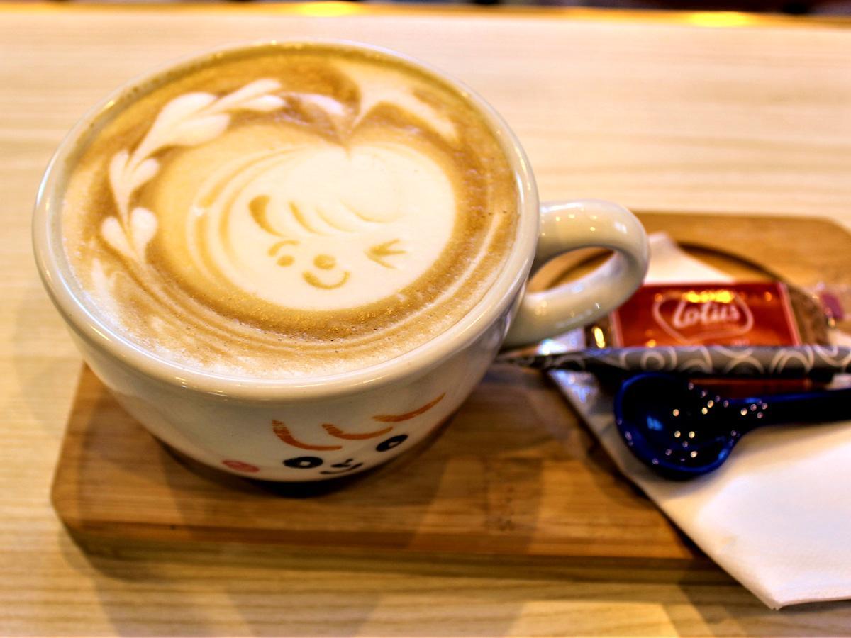 「cafe AiR」で楽しめるラテアート