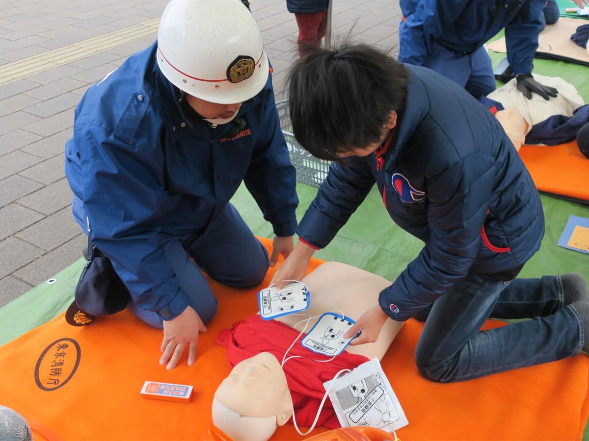 AED体験の様子
