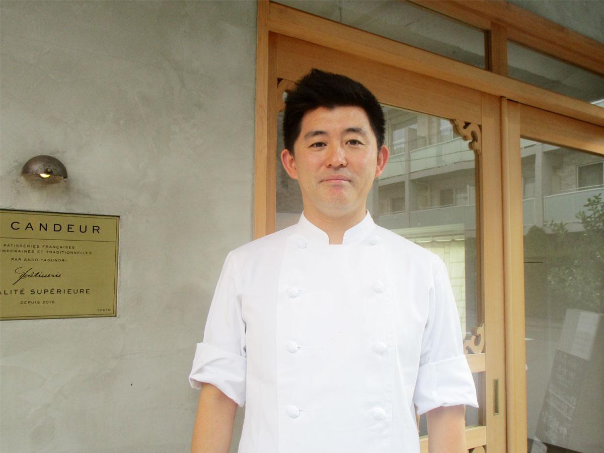 仙川の洋菓子店「LA CANDEUR(ラ カンドゥール)」のオーナーパティシエ・安藤康範さん
