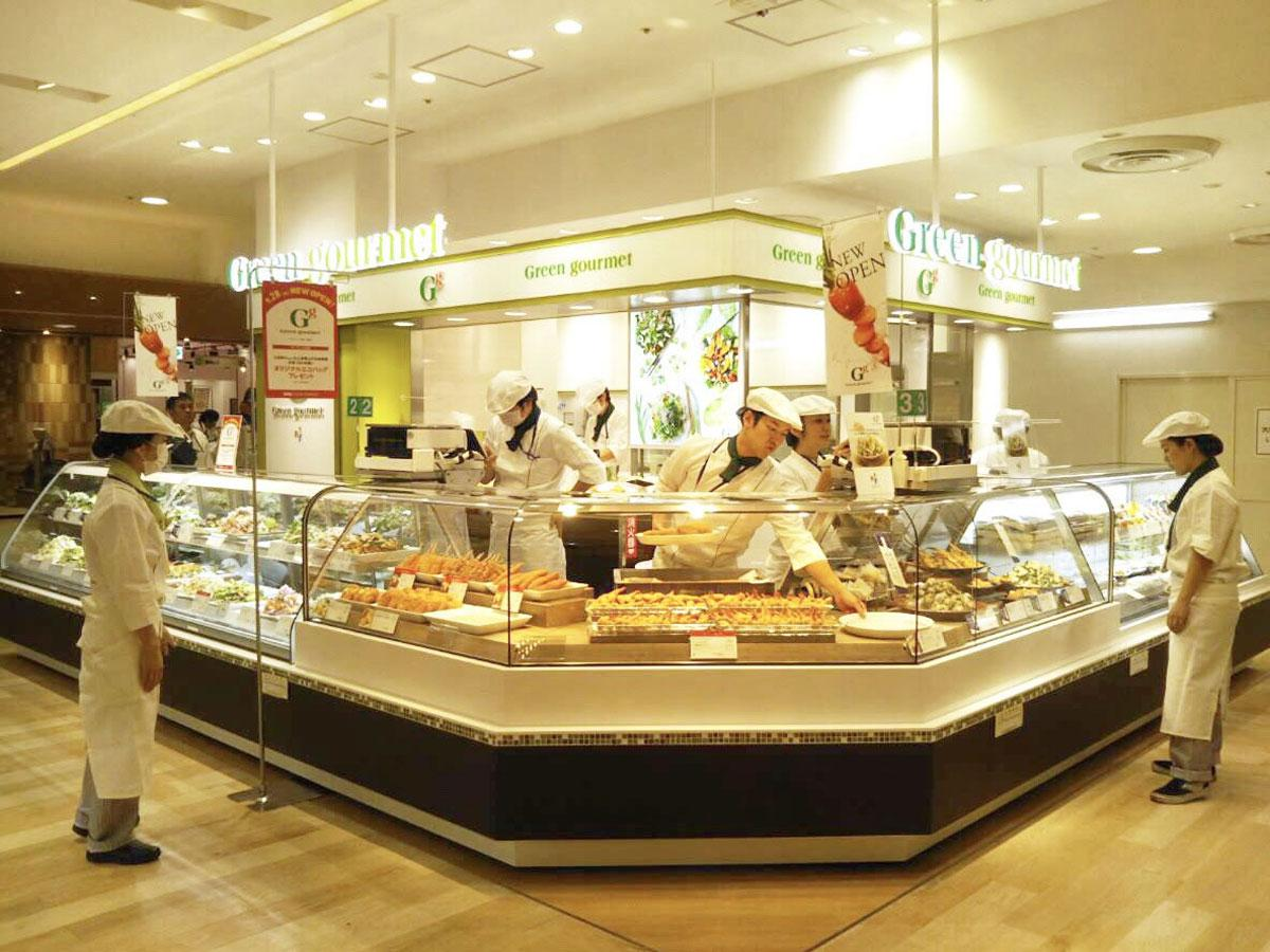調布パルコの地下1階食品ゾーン「PARCO FOOD MARKET」にオープンした「グリーン・グルメ」