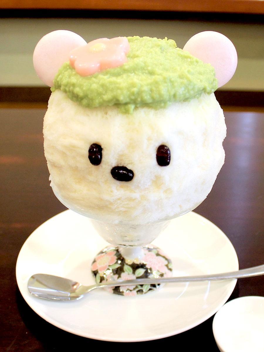 調布にかき氷専門店、聖蹟桜ヶ丘から移転 手作りシロップとクマ型で人気