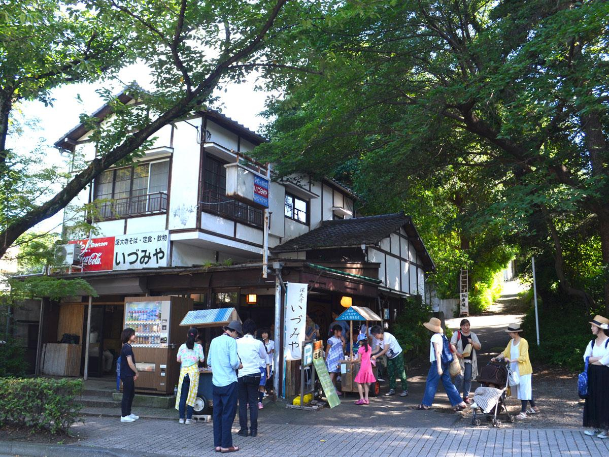 調布・深大寺にある元そば店の空き店舗「いづみや」