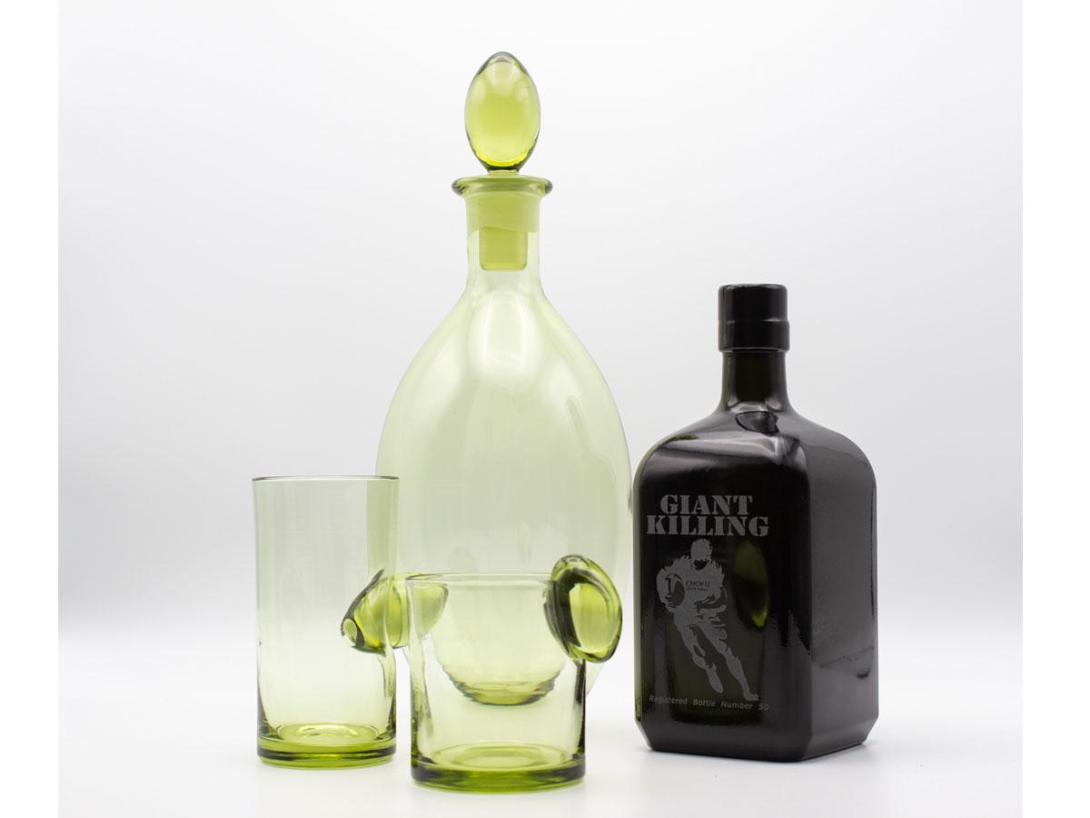 50年熟成・幻の焼酎と手作り新島グラス