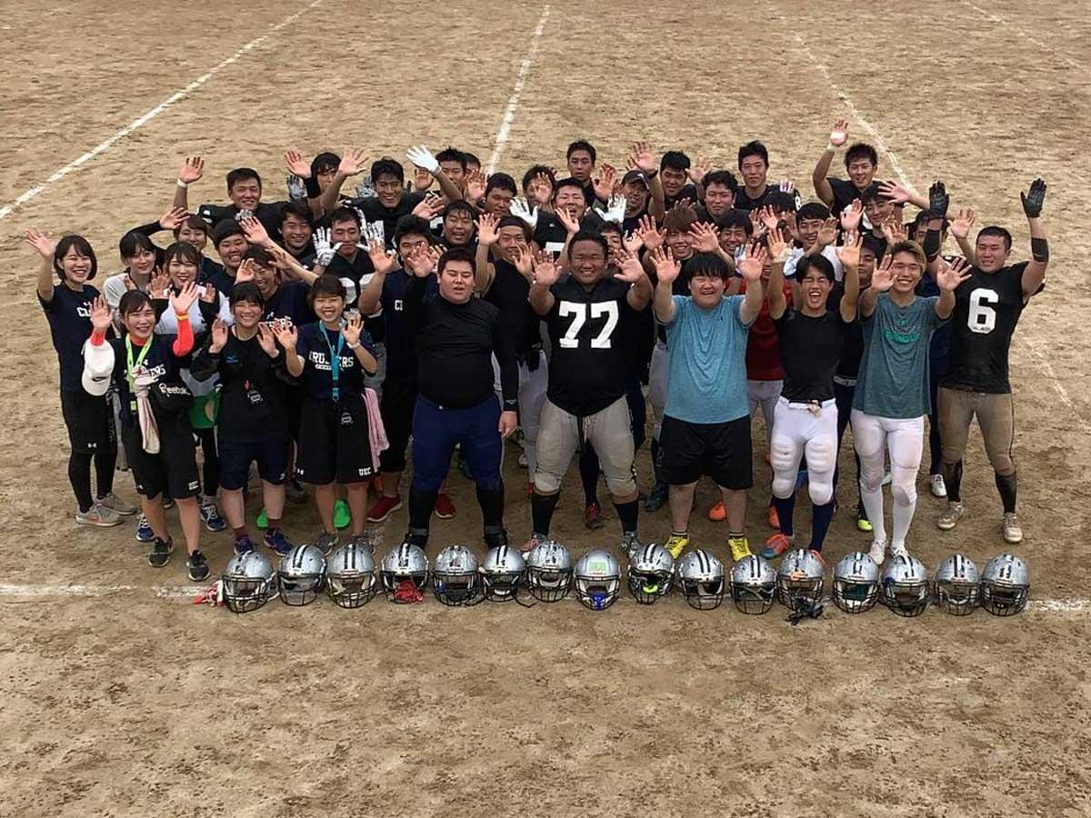 地域の子どもたちと交流を続けている電気通信大学アメリカンフットボール部