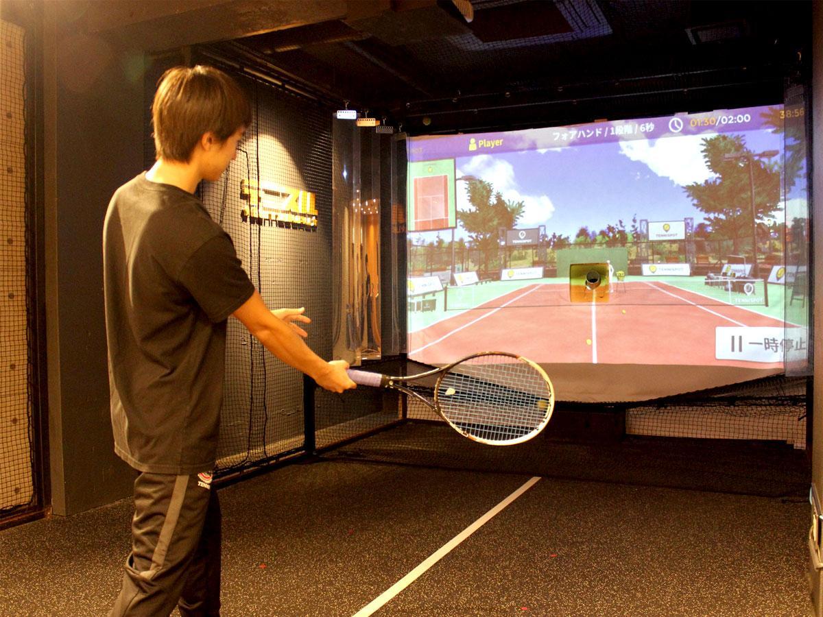 調布・国領にシミュレーションテニスのスクール 「全国初」、多様な練習モード