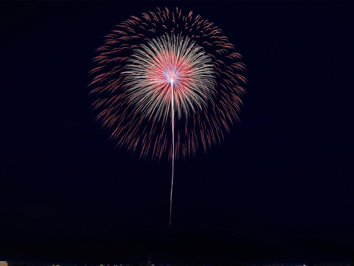 卒業記念に打ち上げられた花火(イメージ)