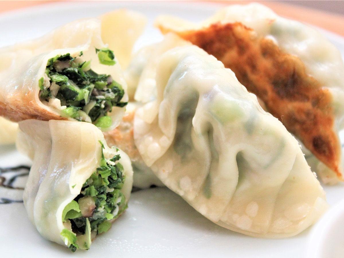 6周年記念で1日限定復活する、aonaの人気メニュー「小松菜ぎょうざ」