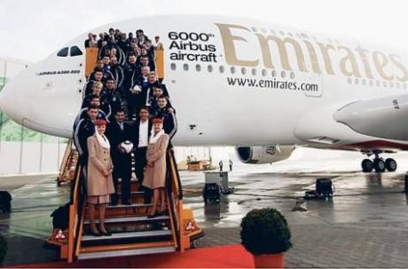 クルー1万1000人を新たに採用するエミレーツ・グループの中核企業ドバイエミレーツ航空