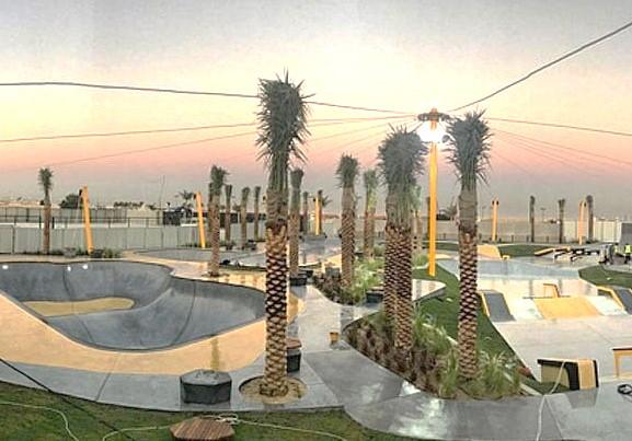 新たに造られるスケートパーク