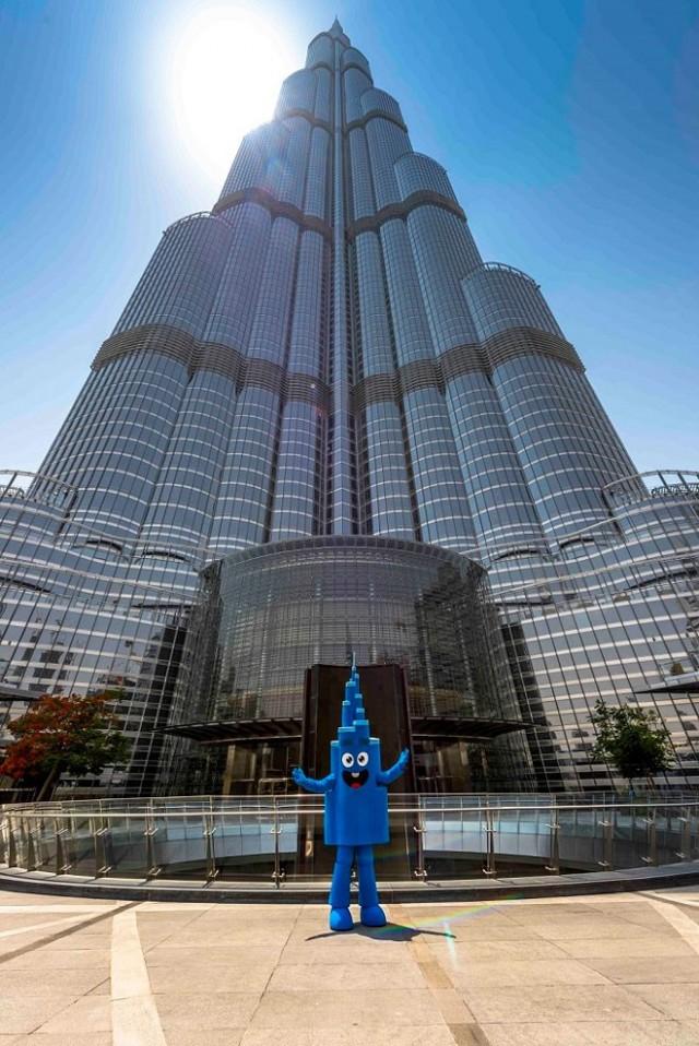青い新マスコットMr. Burj