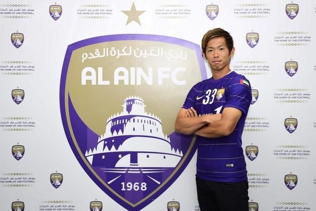 サンフレッチェ広島からアル・アインFCに移籍する塩谷選手 ©Al Ain FC