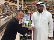 日本産ドローン米、ドバイのスーパーマーケットに並ぶ