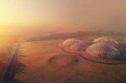 2年後に完成を目指すドバイの「マーズシティー」のイメージ図 © Dubai Media