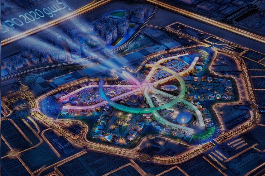2020年ドバイ万博のメイン会場完成予想イメージ