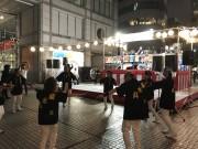 渋谷で「大阪万博決定音頭」に合わせ盆踊り 楽曲は菊水丸さん
