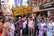 道頓堀に「大阪・関西万博2025」PRオブジェ 開催成功を祈願