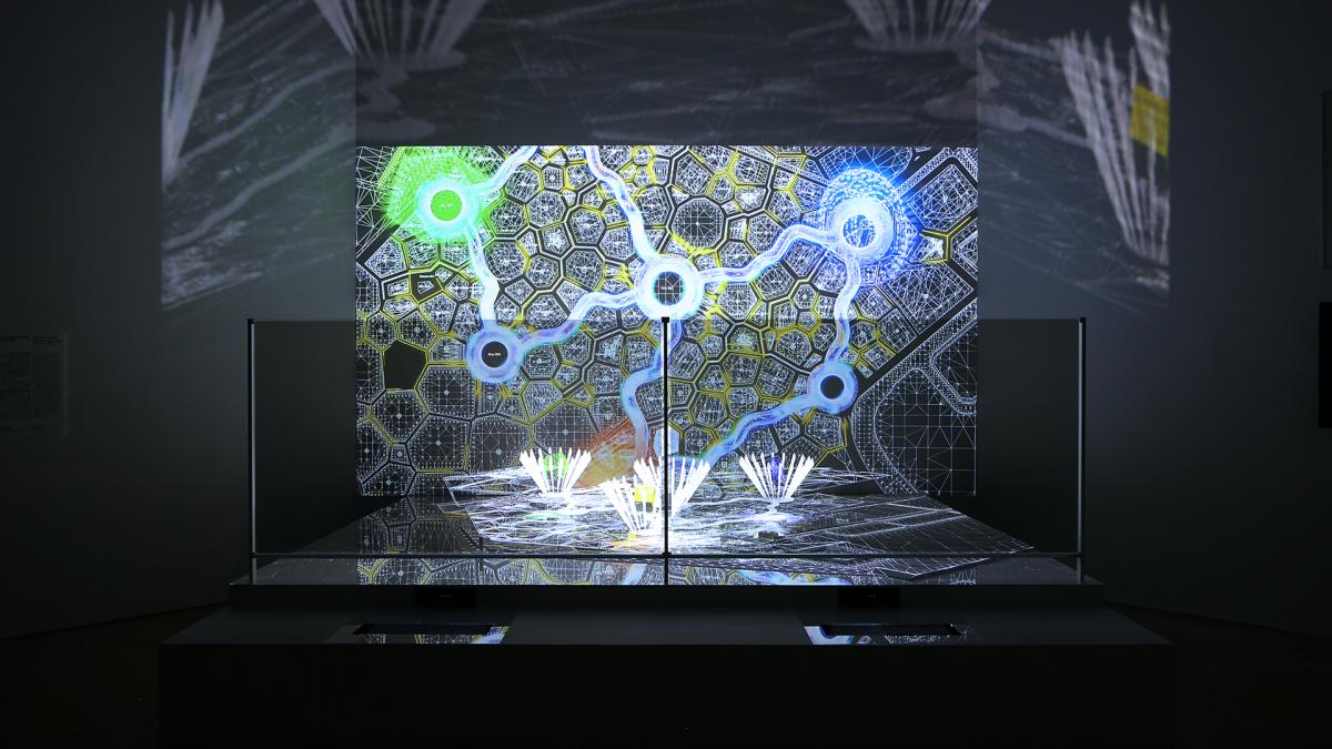 森美術館「未来と芸術展」会場に「2025年大阪・関西万博誘致計画案」アート