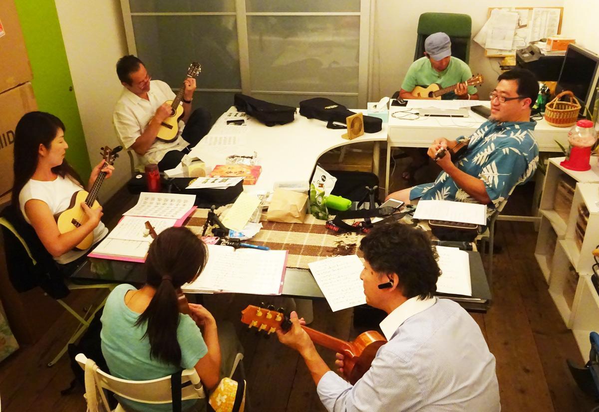 ハワイアンソング教室練習風景