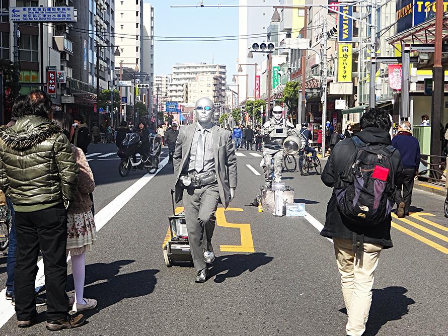 亀戸大道芸風景