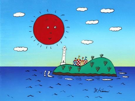 展示作品より「ひょっこりひょうたん島」