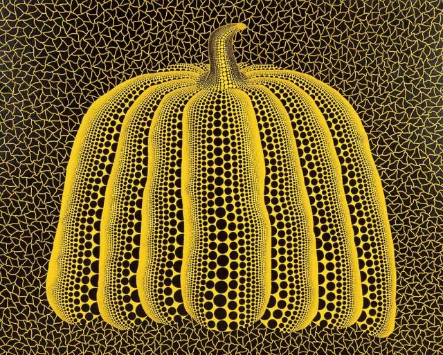 展示作品より、草間彌生「かぼちゃ」 1990 ©YAYOI KUSAMA, courtesy of KUSAMA Enterprise, Ota Fine Arts