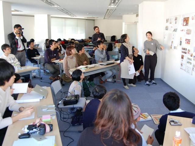 12月3日、加藤ビルで行われたグループ発表の様子