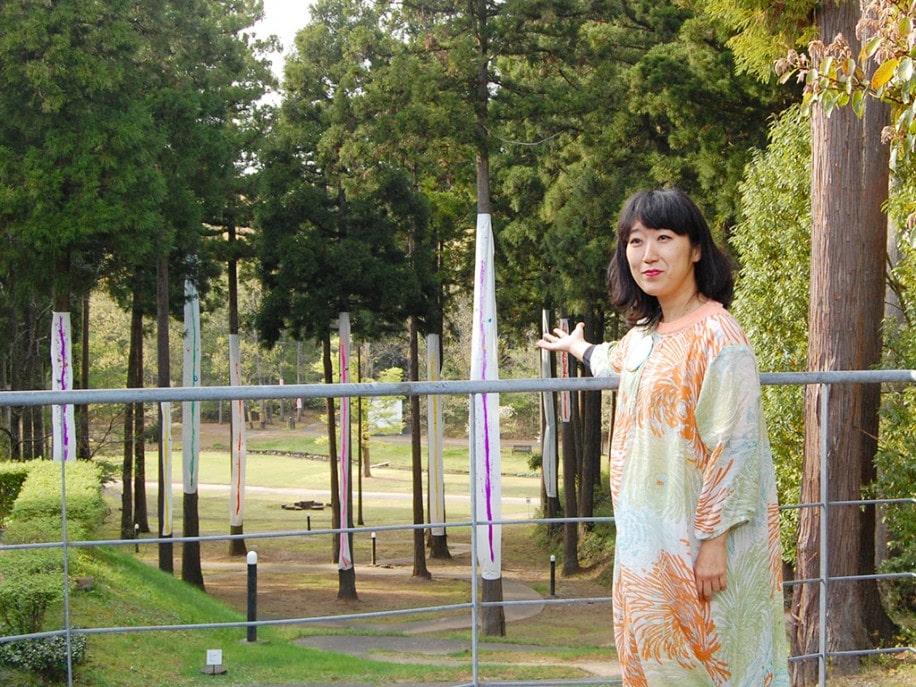 福井・あわらで大宮エリーさん個展 北陸初開催、屋内外に57点