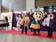 福井市宣伝隊長「朝倉ゆめまる」が出陣式 「ゆるキャラグランプリ」健闘誓う