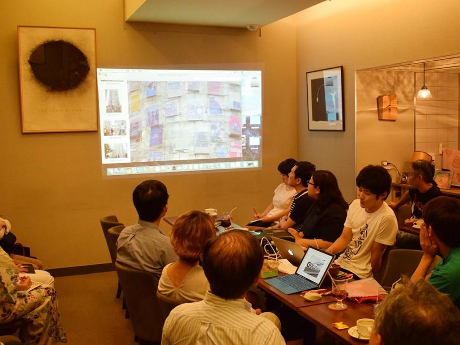 石川さんの解説に耳を傾ける参加者。会場には外国人の姿も