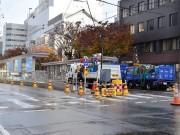 福井鉄道「市役所前」電停移設工事大詰め 集中工事で「赤十字前」駅折り返し列車も