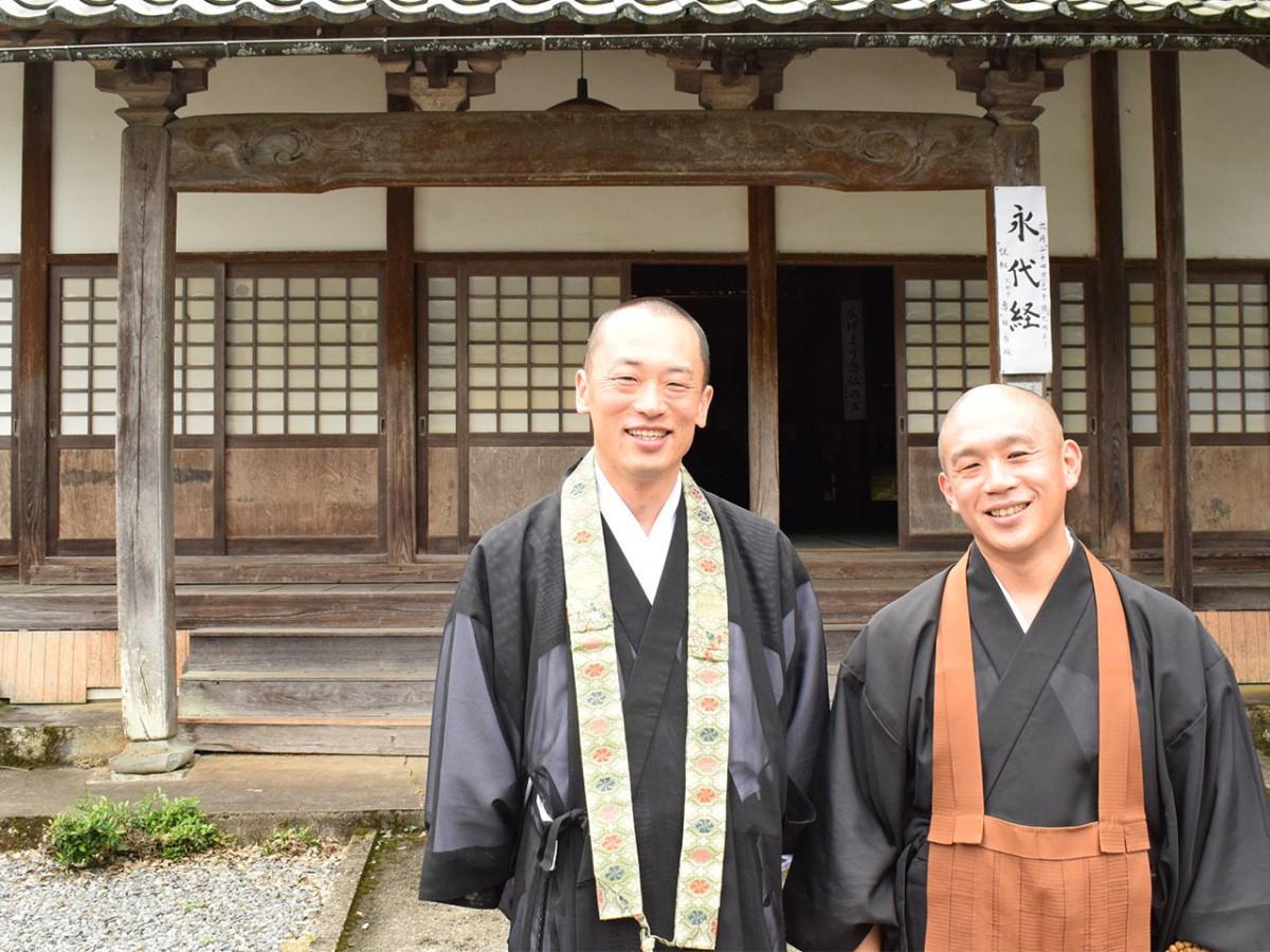 説明会を企画した朝倉さん(左)、大門さん(右)