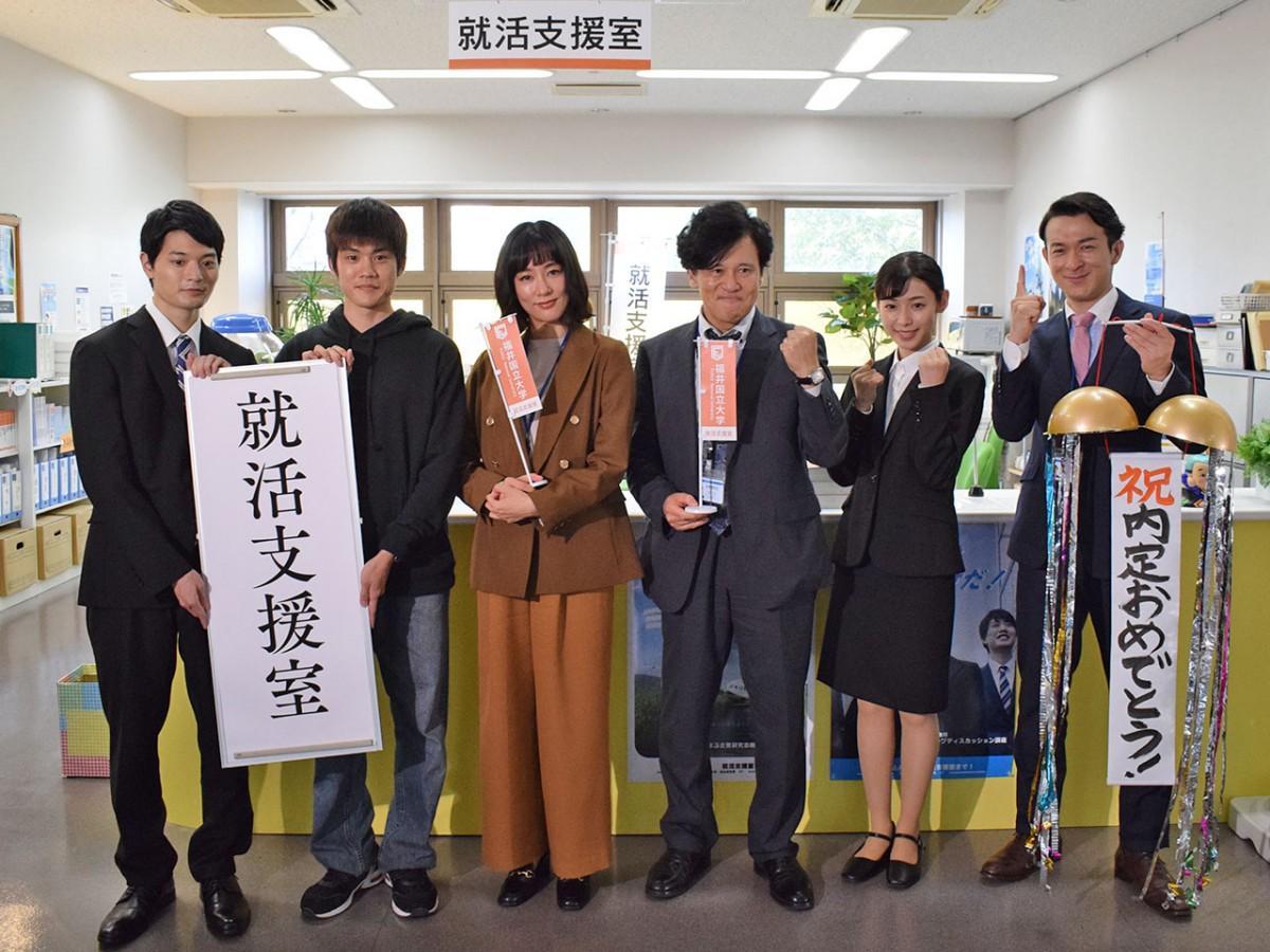左から、篠田さん、上川さん、水川さん、橋本さん、白石さん、田上さん