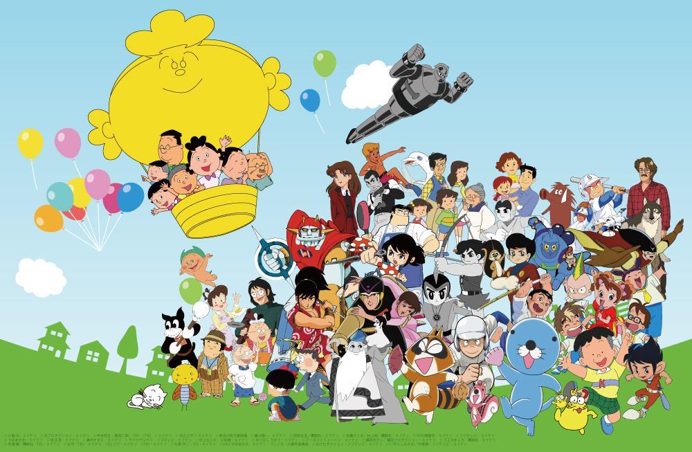 「サザエさん」など同社が制作したアニメーションのキャラクター