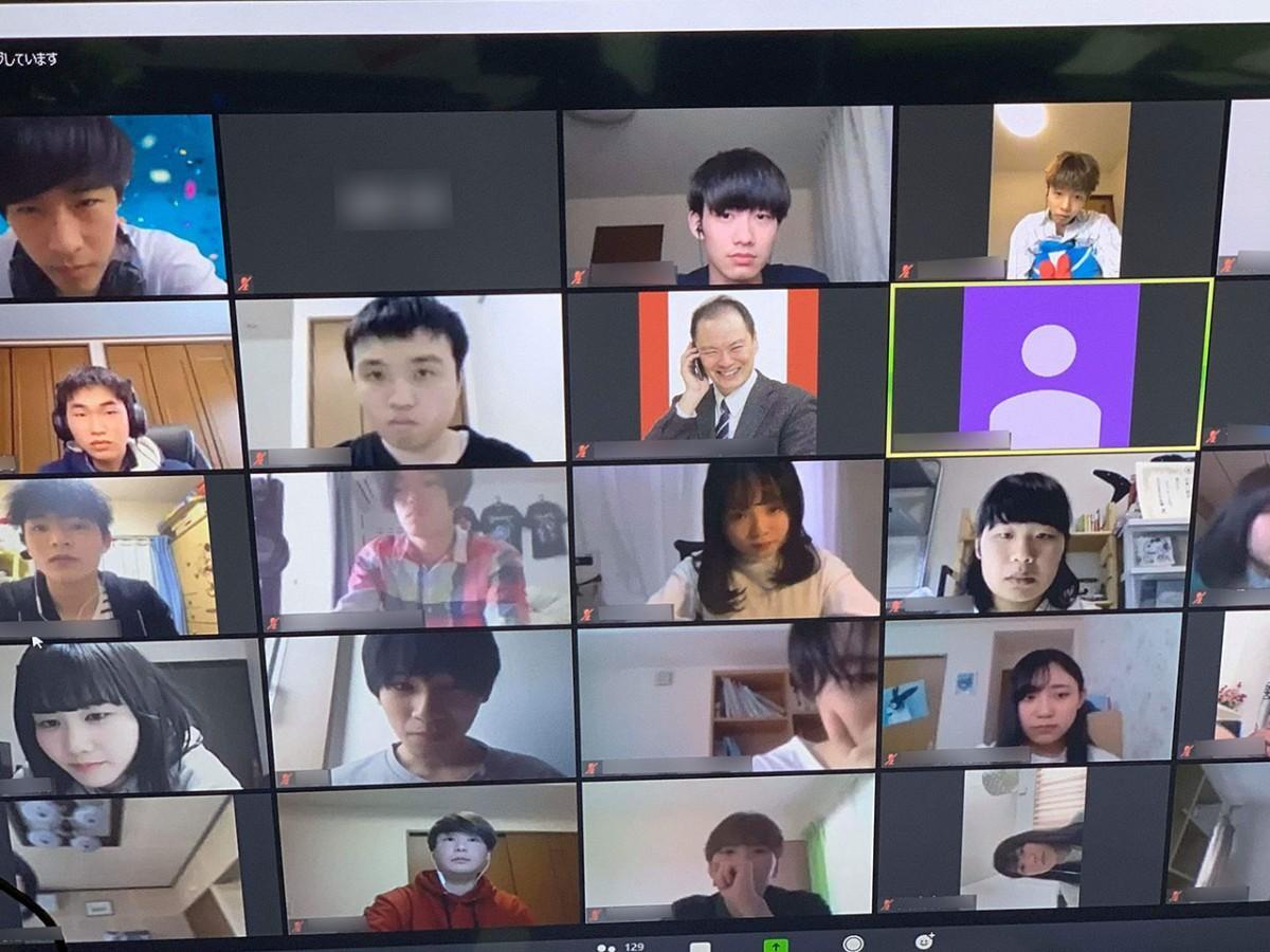 4月29日に行われた「オンライン新歓」の様子