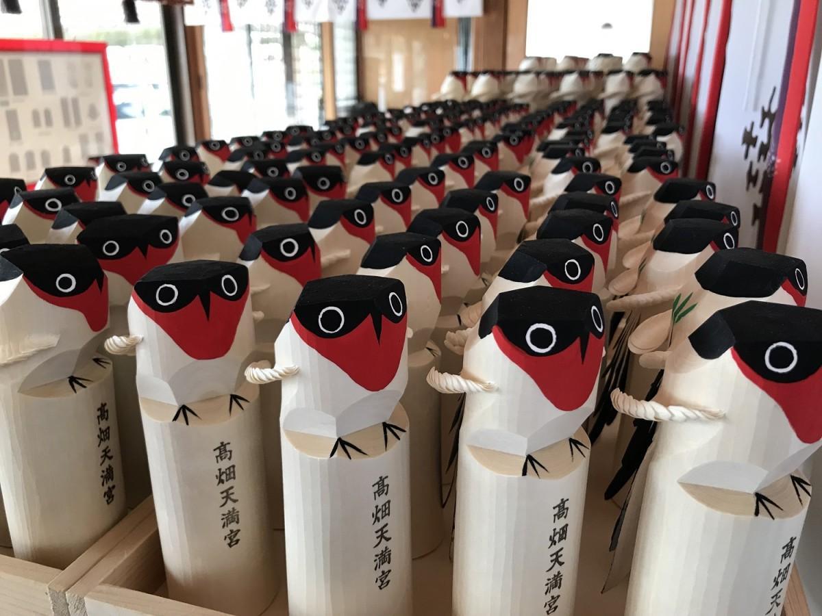 春の「鷽(うそ)鳥」大小1000体を準備