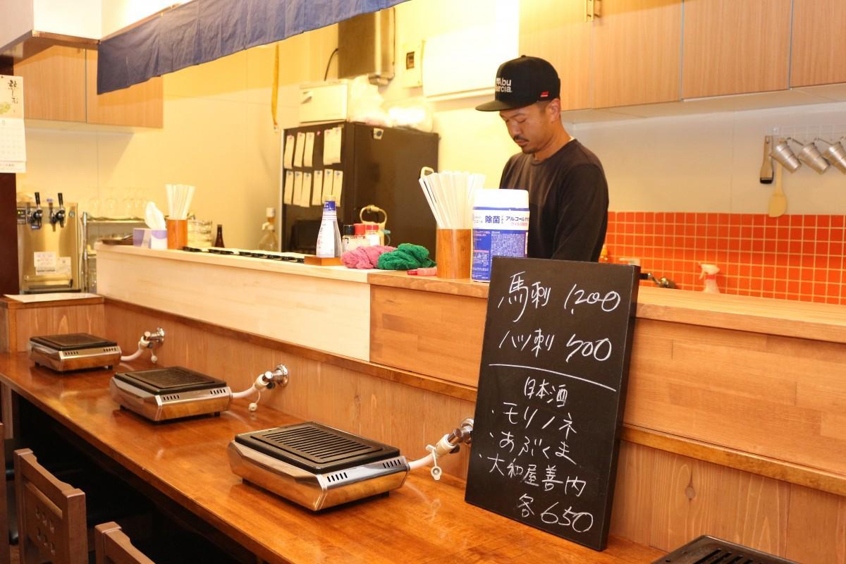 「店主との会話も楽しみながら食事をしてもらえれば」と店主の黒澤さん
