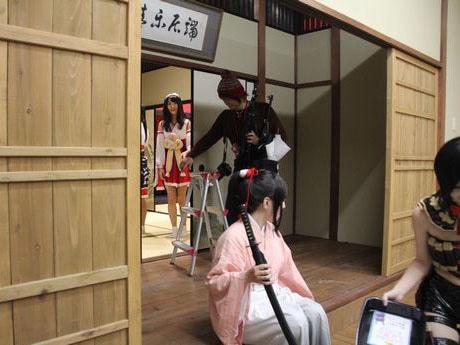 コスプレ専門のシェアスタジオ「ハコスタジアム東京」のスタジオ・和風エリア「長屋通り」