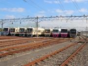 新京成、車両基地を一般公開 鉄道機器展示や車内放送体験も