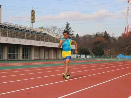 走る米澤清彦さん