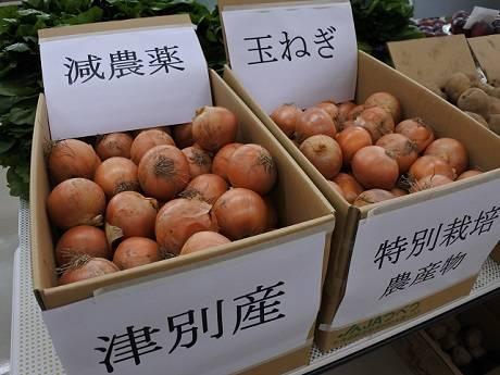 特別栽培の津別産玉ネギ