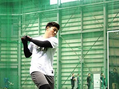 清宮選手・バッティング練習