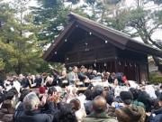 船橋大神宮で節分祭 神楽の舞と豆まきに多数の来場者