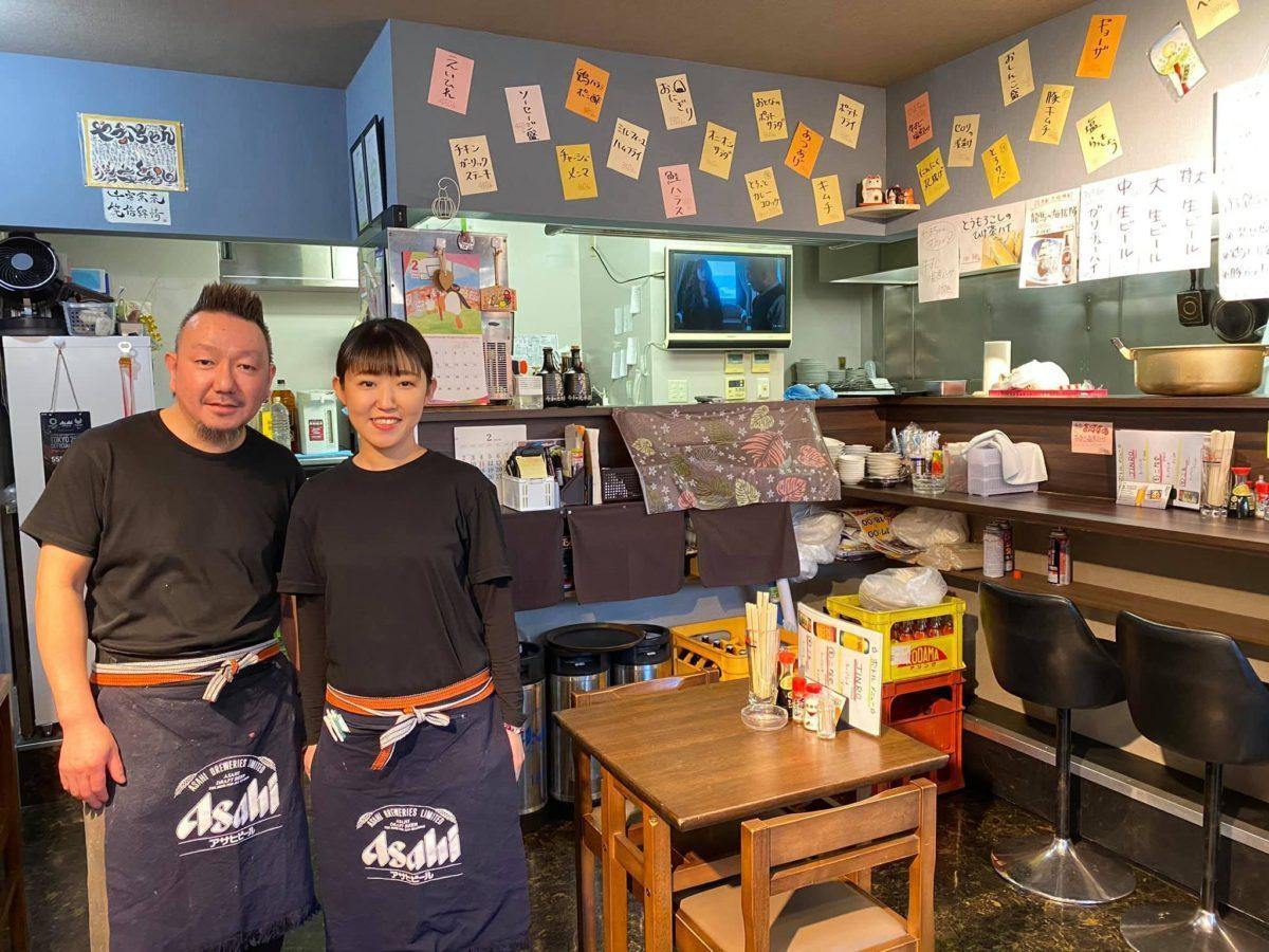 店主は船橋市出身の山本勝美さん(写真左)