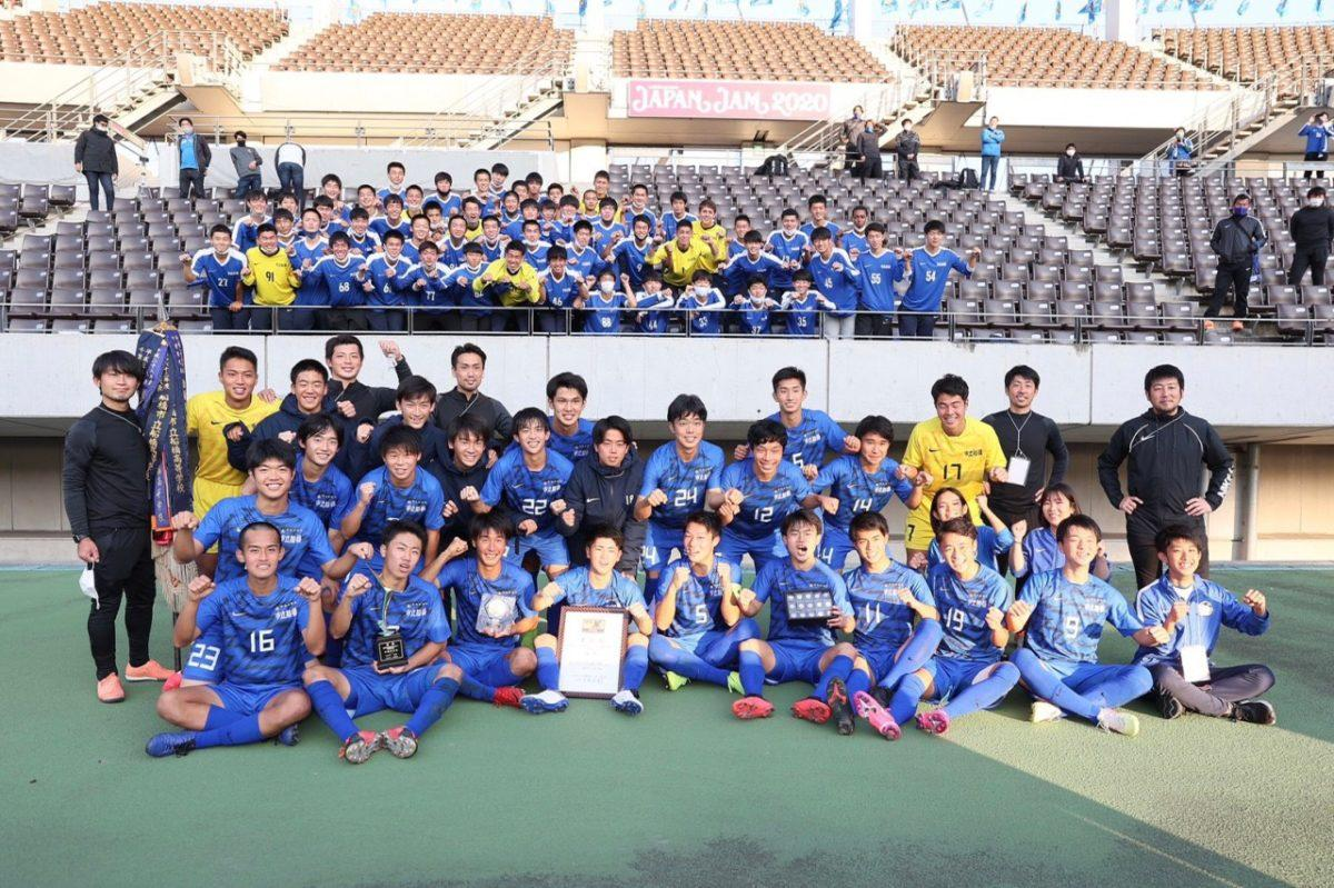 市立船橋高校サッカー部の選手ら(写真提供=市立船橋高校)