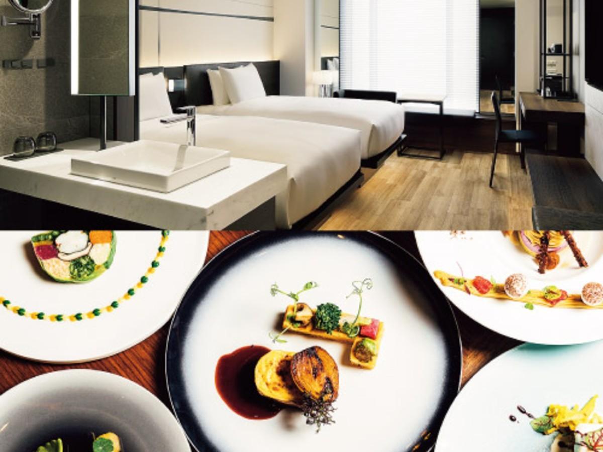 「国内初進出 AC ホテル・バイ・マリオット東京銀座で特別体験宿泊福袋」のホテルの部屋や料理のイメージ
