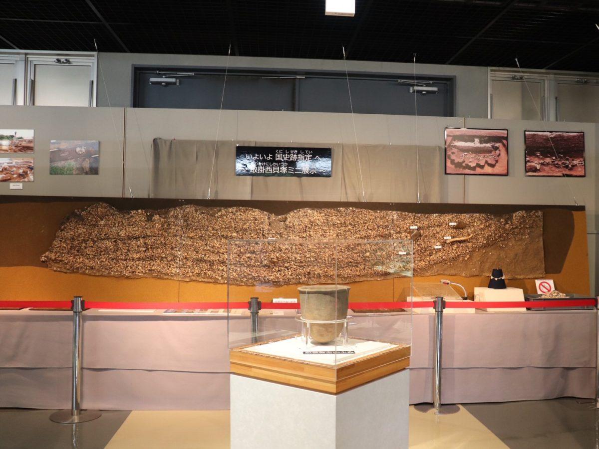 飛ノ台史跡公園博物館の「取掛西貝塚」ミニ展示スペース