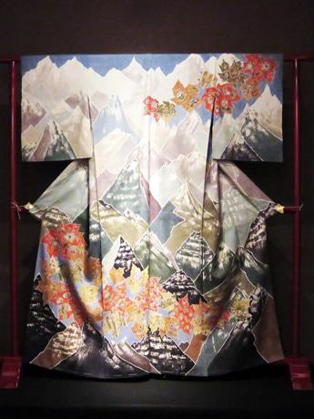 寿恵更紗「カナダの秋(着物)」